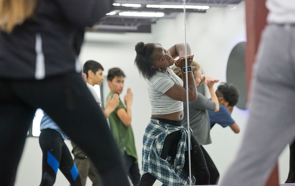 JAY YOUNG | THE GOSHEN NEWS<br /> Instructor Sandra Jemison is reflected in a mirror as she leads a hip hop dance class Wednesday evening at Epic Dance Studios.