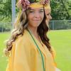 Stacey Diamond   The Goshen News<br /> Rachel Amis of Middlebury placed flowers around her graduation cap during the Northridge High School graduation ceremony.