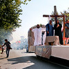 LEANDRA BEABOUT | THE GOSHEN NEWS<br /> Healing Heart Community Church presented a float complete with mini passion play.