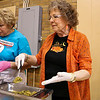 LEANDRA BEABOUT | THE GOSHEN NEWS<br /> Eva Hooley recently moved to Goshen from Florida. She said she was excited to meet more members of her church while volunteering at the Thanksgiving meal.