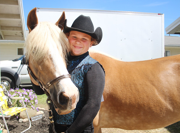 LEANDRA BEABOUT | THE GOSHEN NEWS<br /> Bailey Burkholder, 11, of Goshen