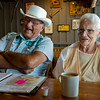 JAY YOUNG | THE GOSHEN NEWS<br /> Ray and Wilma Yoder share a laugh together while talking about their experiences visiting 644 Cracker Barrel restaurants across the country Wednesday evening at a Cracker Barrel in Elkhart.