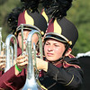 Grace Medford carries hermellophone in Class C for the Marching Jimmies at Concord this past Saturday.