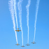 LEANDRA BEABOUT | THE GOSHEN NEWS<br /> The Nappanee Apple Festival parade kicked off with a vintage war place flyover.