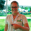 Katy Bail, a Potawatomi Zoo staff member holds a beetle.