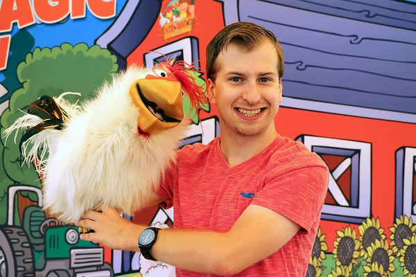 Matilda the chicken and Daniel Steep, London, Ontario Canada