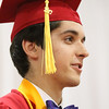 JAY YOUNG | THE GOSHEN NEWS<br /> Goshen High School graduating senior and summa cum laude Isaiah Kaufman speaks during the 2017 Commencement ceremony Sunday afternoon.