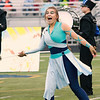 Stacey Diamond | The Goshen News<br /> Maria Nisley sells her sword twirling act to the fans and judges at ISSMA Semi-State.
