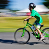 JAY YOUNG | THE GOSHEN NEWS<br /> Garrett Gaby, of Syracuse, zooms past on his bicycle during 13th annual Kids' & Teens' Try-Athlon hosted by the Goshen Parks and Recreation Department at Shanklin Park Saturday morning.