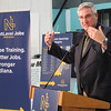 Roger Schneider | The Goshen News<br /> Gov. Eric Holcomb speaks abou the new NextLevel Jobs training program that he has been talking about during stops around the state.