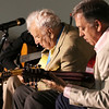 Brian Sapp   The Goshen News<br /> Bucky Pizzarelli, left, and Ed Laub play together.