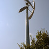 JOHN KLINE | THE GOSHEN NEWS<br /> This 3.6-kilowatt wind turbine is one of several sustainability features currently in place at Bethany Christian Schools. The school held a tour of its sustainability efforts Friday as part of a celebration announcing the school's recent selection as a 2017 U.S. Department of Education Green Ribbon Schools award winner.
