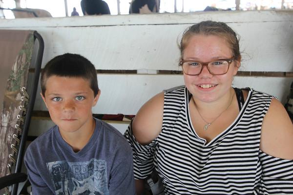 JOHN KLINE | THE GOSHEN NEWS <br /> Aaron Olson, 12, and Bobby Jo Stark, 13