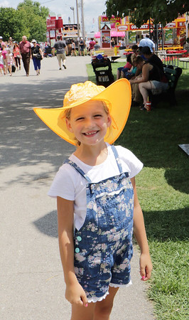 Cora Bontrager, 8, of Middlebury