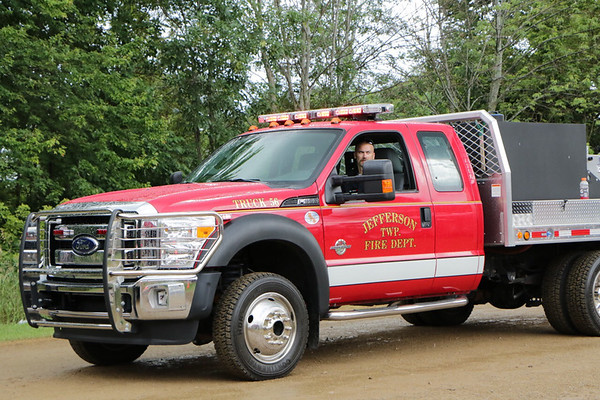 STACEY DIAMOND | THE GOSHEN NEWS<br /> Don Hochstetler, of Goshen, represents the Jefferson Fire Department.