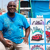 JAY YOUNG | THE GOSHEN NEWS<br /> Air brush artist Alvin Kennedy, of Kokomo, can be found at this year's Elkhart County 4-H Fair airbrushing t-shirts and other items.