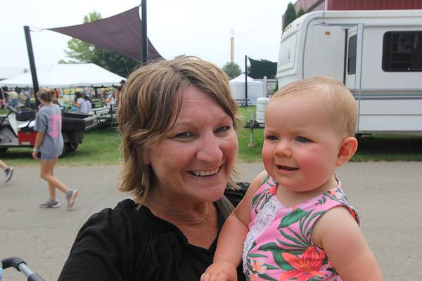 JOHN KLINE   THE GOSHEN NEWS <br /> Susan Wertman and Alayna Fritshle, 8 months