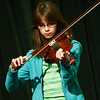 Sixth grader, Anya Sheldon, plays the Big Walleye Blues on violin at a benefit for the Williamstown Elementary School's  fifth grade band on Sunday.  Williamstown, 5/16/10 - Ian Grey