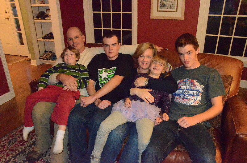 with Seth story<br /> Gillian Jones/North Adams Transcript<br /> The Greenhalgh family of Williamstown are from left, Joe, Dane, 4, Grant, Venetia, Meredith, 6, and Archer, 17. Missing is Ian Greenhalgh, 15.