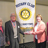 Photo by Edward Damon/Transcript Staff<br /> Henry Flynt, Jr., 91, was recognized for 60 years of serving the community at the Rotary Club of Williamstown luncheon on Tuesday at the Williams Inn. Flynt attended the luncheon with his wife Mary (left), and received an award from Williamstown Rotary President Anne Skinner (second from right) and Rotary District Governor Eileen Rau (right).
