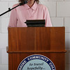 Melanie Rancourt, Positive Options teacher for North Adams Public Schools, speaks at an awards luncheon for the Positive Options Program held at BCC in Pittsfield on Friday.  Pittsfield, 5/28/10 - Ian Grey