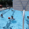 HALEY WARD | THE GOSHEN NEWS<br /> Kids play basketball Wednesday at the Shaklin Pool. The pool, which opened May 28, will stay open until July 30 once children go back to school.