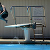 HALEY WARD | THE GOSHEN NEWS<br /> Benjamin Peeler, 11, jumps off the diving board Wednesday at the Shaklin Pool. His mom Jennifer Peeler said they go to the pool every day with their family pool pass.