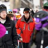 BEN GARVER — THE BERKSHIRE EAGLE<br /> About 230 skiers and snowboarders enjoyed the slopes at Otis Ridge Thursday, January 2, 2020. Otis ridge is a small mountain with 4 lifts and 11 trails. Long lift lines extended along the base of the hill.
