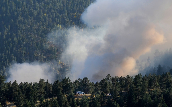 A checkpoint is seen near  the Peewink Fire on Friday west of Boulder, Colorado on September 17, 2010.<br /> Photo by JEREMY PAPASSO
