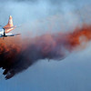 A slurry bomber drops retardant during the Peewink Fire on Friday west of Boulder, Colorado on September 17, 2010.<br /> Photo by JEREMY PAPASSO