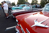 Classic cars fill the Vine Street parking lot during the ribbon cutting for Lansdale's Wood-Vine Connector Thursday, Sept. 18, 2014.<br /> Bob Raines-The Reporter