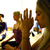 "Rain Prayer001.JPG Colleen Basham, right, Michelle Pitcher and Philip Jones participate in a rain prayer at Om Time on Wednesday, June 27, at 2035 Broadway in Boulder. For a video of the rain prayer go to  <a href=""http://www.dailycamera.com"">http://www.dailycamera.com</a><br /> Jeremy Papasso/ Camera"
