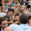"President Barack Obama greets the crowd after his speech at the University of Colorado's Norlin Quad on Sunday  September 2, 2012.<br /> For more photos and a video of Obama, go to  <a href=""http://www.dailycamera.com"">http://www.dailycamera.com</a>.<br /> Cliff Grassmick  / September 2, 2012"