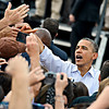 "President Barack Obama greets supporters after speaking on Norlin Quad at the University of Colorado in Boulder on Sunday, Sept. 2, 2012.  For more photos and videos visit  <a href=""http://www.DailyCamera.com"">http://www.DailyCamera.com</a>.<br /> (Greg Lindstrom/Times-Call)"