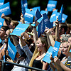 """Fans cheer as President Barack Obama speaks on Norlin Quad at the University of Colorado in Boulder on Sunday, Sept. 2, 2012.  For more photos and videos visit  <a href=""""http://www.DailyCamera.com"""">http://www.DailyCamera.com</a>.<br /> (Greg Lindstrom/Times-Call)"""