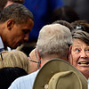 "Linda Muir, of Erie, reacts after receiving a kiss on the cheek from President Barack Obama after his speech on Norlin Quad at the University of Colorado in Boulder on Sunday, Sept. 2, 2012.  For more photos and videos visit  <a href=""http://www.DailyCamera.com"">http://www.DailyCamera.com</a>.<br /> (Greg Lindstrom/Times-Call)"