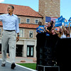 """President Barack Obama comes out to address the crowd at the University of Colorado's Norlin Quad on Sunday  September 2, 2012.<br /> For more photos and a video of Obama, go to  <a href=""""http://www.dailycamera.com"""">http://www.dailycamera.com</a>.<br /> Cliff Grassmick  / September 2, 2012"""
