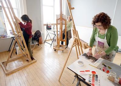 Painting at the Lichtenstein - 032218