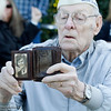 Pearl Harbor survivor Art Wells shows off a photo of his wife Dolores just before the Pearl Harbor remembrance ceremony Thursday, Dec. 7, 2017, at the Gridley Cemetery in Gridley, California. (Dan Reidel -- Enterprise-Record)