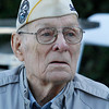 Art Wells, 95, of Chico, just before the Pearl Harbor remembrance ceremony Thursday, Dec. 7, 2017, at the Gridley Cemetery in Gridley, California. (Dan Reidel -- Enterprise-Record)
