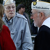 Art Wells, 95, of Chico, left, and Vere Gardner, 94, of Gridley, just before the Pearl Harbor remembrance ceremony Thursday, Dec. 7, 2017, at the Gridley Cemetery in Gridley, California. (Dan Reidel -- Enterprise-Record)