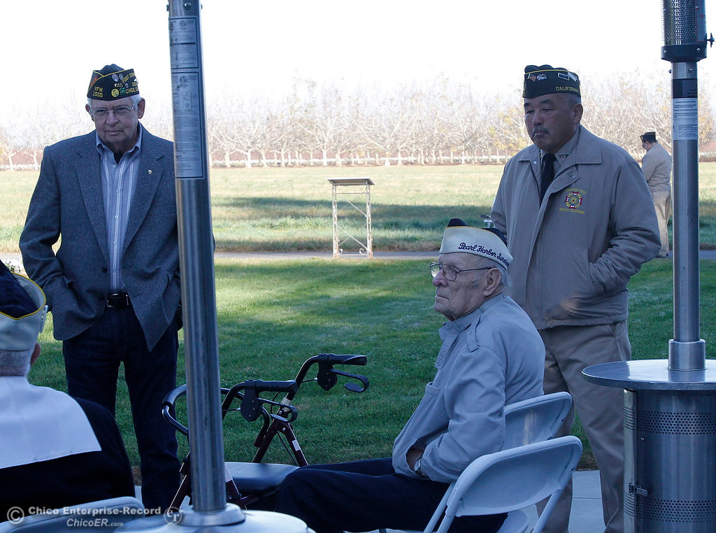 . The Pearl Harbor remembrance ceremony Thursday, Dec. 7, 2017, at the Gridley Cemetery in Gridley, California. (Dan Reidel -- Enterprise-Record)