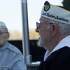 Pearl Harbor survivors Art Wells, 85, of Chico, left, and Vere Gardner, 95, of Gridley, right, just before the Pearl Harbor remembrance ceremony Thursday, Dec. 7, 2017, at the Gridley Cemetery in Gridley, California. (Dan Reidel -- Enterprise-Record)
