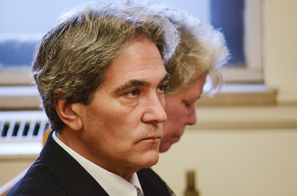 . Paul Capitanio waits to be arraigned Berkshire Centeral District Court , Tuesday August 20, 2013.  Ben Garver / Berkshire Eagle Staff