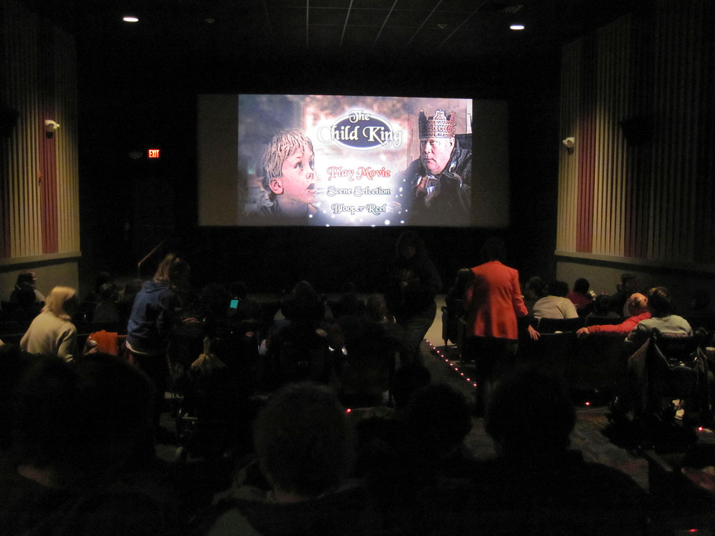 """. United Cerebral Palsy of Berkshire County held a family film screening of the holiday film \""""The Child King,\"""" starring local actor Peter Johnson at the North Adams Movieplex on Saturday. Jenn Smith/Berkshire Eagle Staff Nov. 9, 2013"""