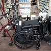 BEN GARVER — THE BERKSHIRE EAGLE<br /> Flynn's Pharmacy on Elm Street carries home medical supplies, wheelchairs and walking aids.  The pharmacy is one of three independent pharmacies in the Berkshires that remain in business by catering to specific needs in the marketplace.