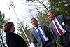 KRISTOPHER RADDER - BRATTLEBORO REFORMER<br /> Vermont Governor Phil Scott talks with Grace Cottage Hospital CEO Doug DiVello and foundation office & community relations director Andrea Seaton about the new cell coverage on Monday, April 30, 2018.