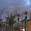 """Phoenix Dust Storm.JPEG-0d1.JPG -- ADDS DATE AND OBJECT NAME --A dust storm known as a """"habub"""" rolls into downtown Phoenix on Tuesday night, July 5, 2011, bringing strong winds and low visibility. Habubs are part of Arizona's annual monsoon season, which is now in full swing. (AP Photo/Amanda Lee Myers)"""