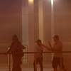 Arizona Dust Storm.JPEG-068.JPG People walk in downtown Phoenix during a dust storm Tuesday, July 5, 2011.   A massive dust storm has swept into the Phoenix area and drastically reduced visibility across much of the valley.  (AP Photo/Ross D. Franklin)
