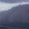 Phoenix Dust Storm.JPEG-07c.JPG In this image from ABC15.com a large dust storm rolls across downtown Phoenix, Arizona Tuesday evening July 5, 2011. The massive dust storm redued visibility and delayed flights as strong winds toppled trees and caused power outages for thousands of residents in the valley.(AP Photo/ABC15.COM)